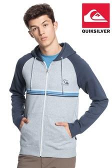 Quiksilver灰色日常款拉鍊連帽上衣