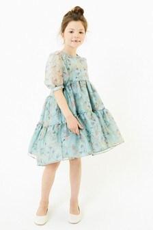 فستان أورغنزا مطبوع (3-16 سنة)