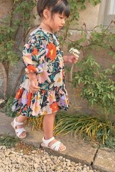 فستان طبقات مطبوع مشجر (3شهور-16سنة)