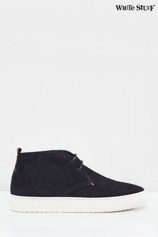White Stuff Navy Lace-Up Casual Boots