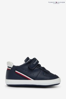 Tommy Hilfiger Trainers Global Stripe Velcro Crib Shoes