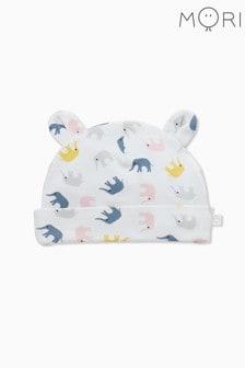 כובע דובי לתינוקות עם הדפס פילים קטנים של MORI