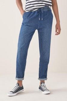 Джинсовые спортивные брюки