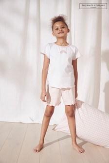 The White Company Stripe Rainbow Shortie Pyjamas