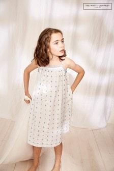 The White Company Mini Me Indigo Jacquard Nightdress