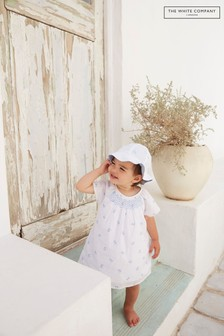 A fehér cég Eloise nyomtatott smocked ruha