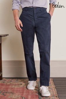 Boden Blue Elasticated Chino Trousers