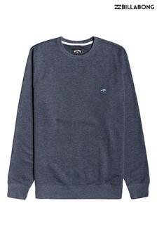 חולצת פליז של Billabong דגם All Day עם צווארון עגול בכחול