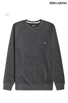 חולצת פליז של Billabong דגם All Day בשחור עם מפתח עגול