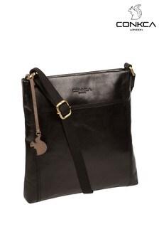 Conkca Dink Leather Cross Body Bag