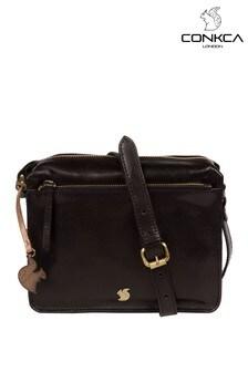 Conkca Aurora Leather Cross Body Bag