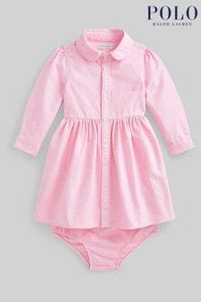 Ralph Lauren Pink Logo Shirt Dress