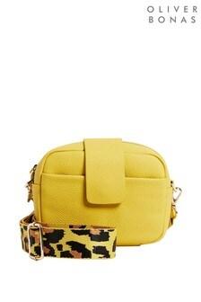 Желтая сумка для фотоаппарата с длинным ремешкомOliver Bonas Ella