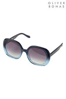 نظارة شمسية أسيتات أزرق ظلال لون متدرجة Japan منOliver Bonas