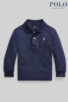 Ralph Lauren Navy Long Sleeve Logo Polo