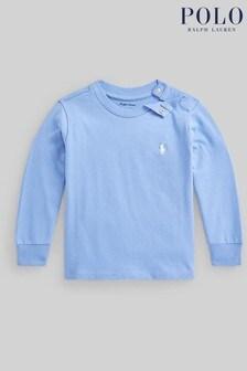 Ralph Lauren Light Blue Logo Long Sleeve T-Shirt