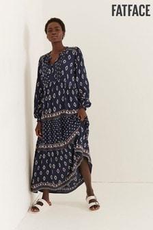 FatFace Maye Ikat Geo Maxi Dress