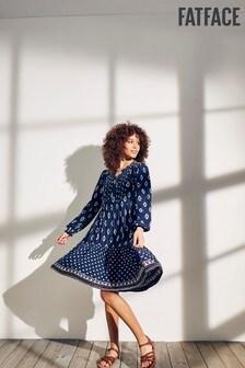 Платье с геометрическим принтом FatFace Maye Ikat