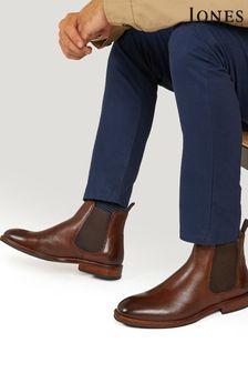 Jones Bootmaker Brown Deakin Leather Mens Chelsea Boots