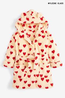 Myleene Klass Kids Cream Heart Print Robe