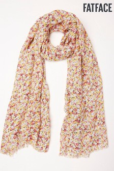 FatFace Geraffter Schal mit floralem Print
