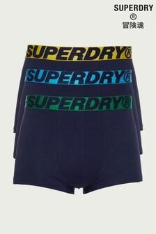 Lot de trois boxers Superdry en coton bio