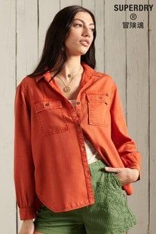 חולצה בעלת מרקם עם שרוול ארוך שלSuperdry