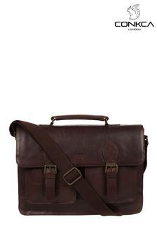 Кожаная сумка для офиса Conkca Pinter