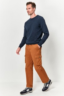 M&Co Brown Cargo Trousers
