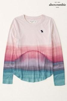 Abercrombie & Fitch Long Sleeve Curve Hem T-Shirt