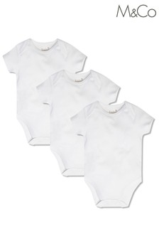 מארז 3 בגדי גוף חלקים לרך הנולד של M&Co