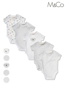M&Co Printed Bodysuits 5 Pack