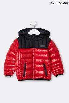 Красная дутая куртка River Island Arnie