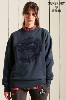 Superdry Blue Workwear Crew Sweatshirt