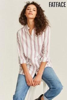 חולצה בגזרה ארוכה של FatFace דגם Edith עם פסים