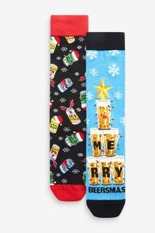 Christmas 2 Pack Socks (A16145) | $8
