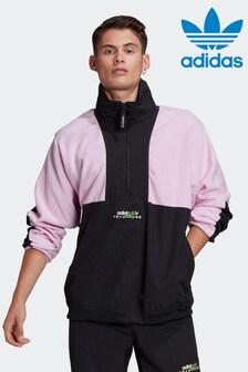 Флисовая куртка в стиле колор блок с короткой молнией adidas Adventure