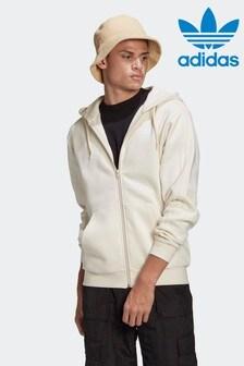 adidas Adicolor 3ストライプ フルジップ No-Dye フード付きトラックトップ