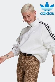 adidas Adicolor Classics Sweatshirt aus Polar-Fleece mit kurzem Reißverschluss