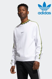 adidas リブディテールクルーネック スウェットシャツ