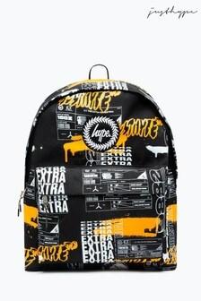 Hype. x E.T黑色重複橙色標誌背包