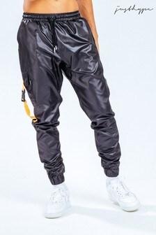 Оранжевые/черные джоггеры с карманами Hype. x E.T