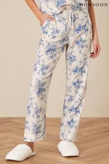 מכנסי פיג'מה פרחוניים של Monsoon דגם Bird