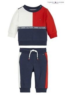 Tommy Hilfiger Blue Baby Colourblock Jogger Set