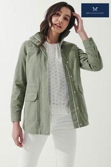 Повседневная куртка цвета хаки из плотного материала Crew Clothing Company