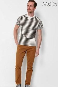M&Co Tan Mens Twill Trousers
