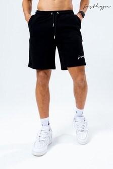Hype.木炭灰標誌男性平織短褲