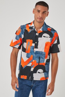 Geo Print Short Sleeve Shirt