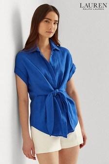 חולצה כחולה של Lauren Ralph Lauren דגם Veanna