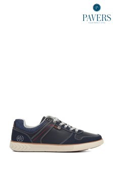 Pavers Mens Blue Casual Lace-Up Trainers